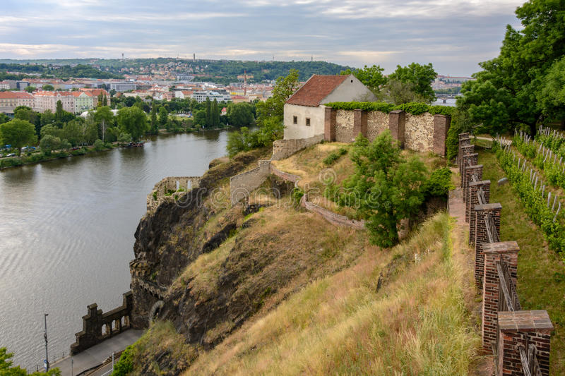 Medieval building in Vysehrad, Prague, Czech Republic stock images