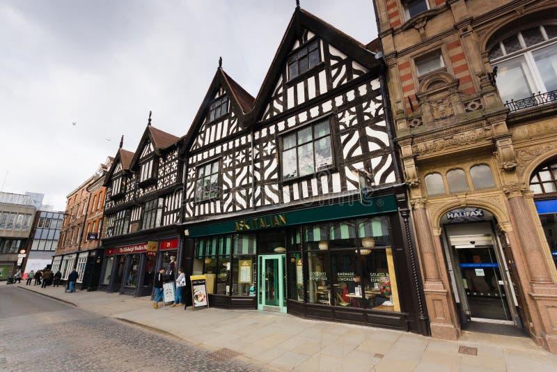 Medieval Buildings Shrewsbury England stock photography