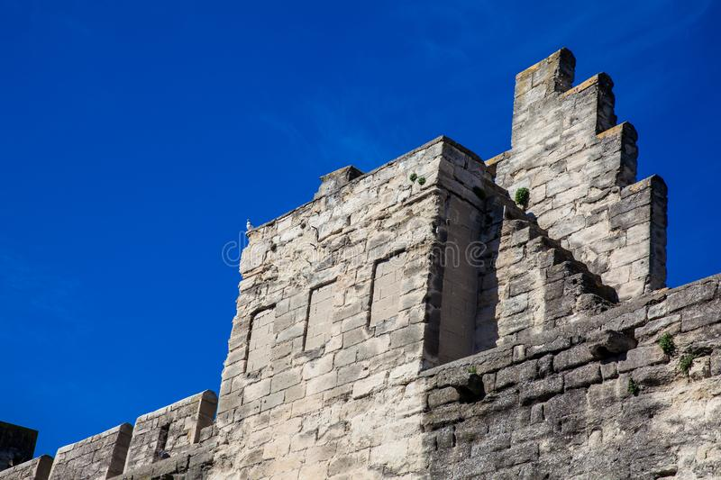 Medieval built Avignon city stone wall royalty free stock images