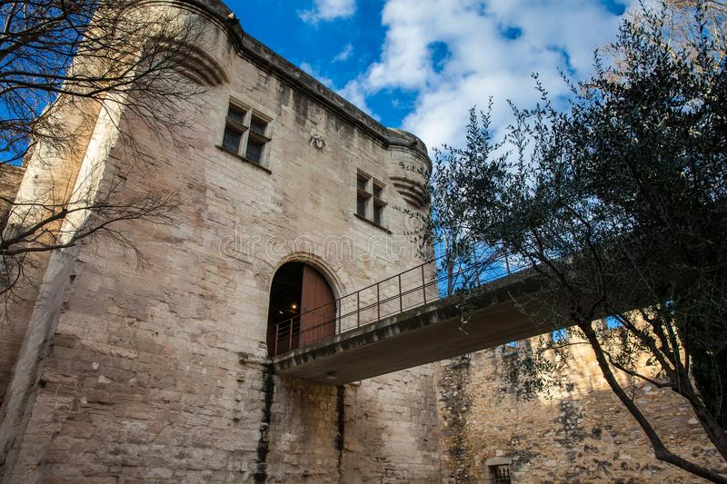 Medieval built Avignon walled city stock image