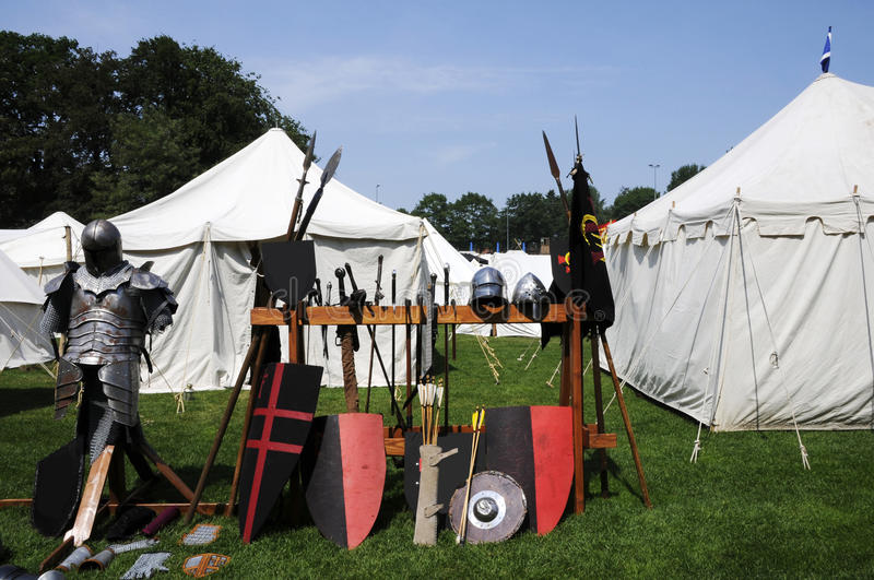Download Medieval camp stock image. Image of knight, antiquity - 20304059