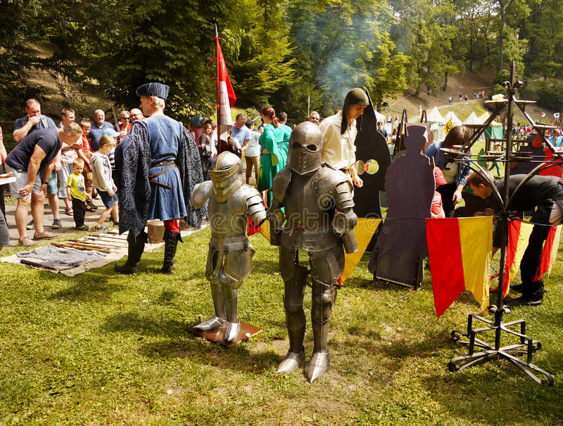 Medieval Camp Party stock photos