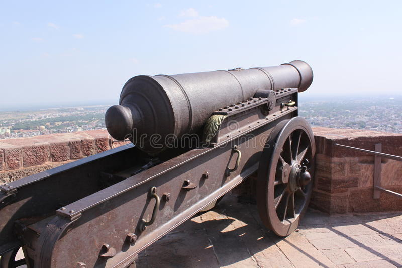 Medieval cannon royalty free stock photography