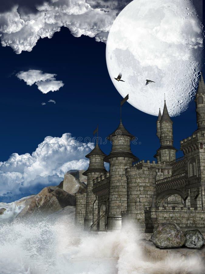 Download Medieval castle stock illustration. Image of digital - 14858558
