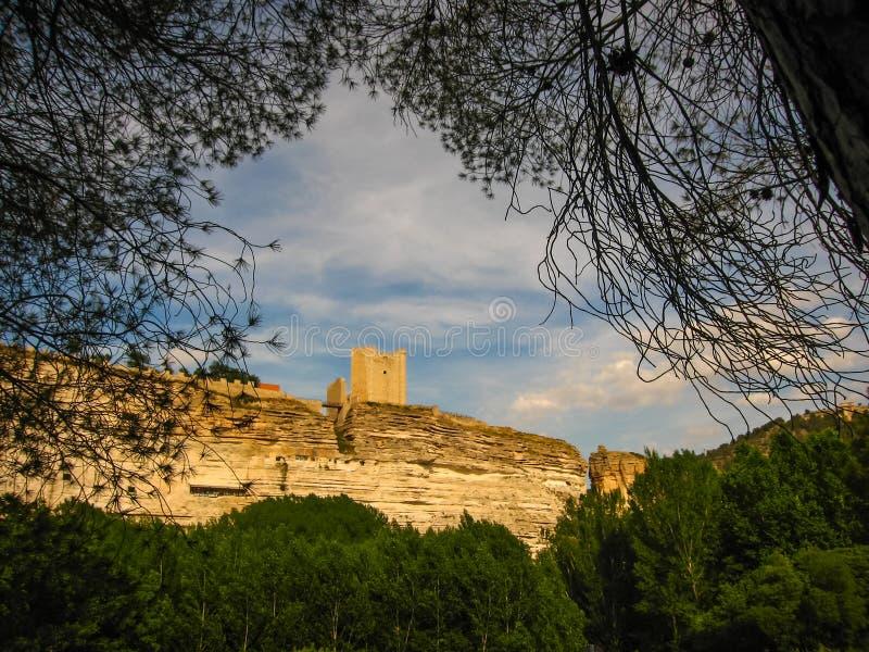 Medieval castle at Alcala del Jucar, Castilla la Mancha, Spain. Medieval castle at Alcala del Jucar in Castilla la Mancha, Spain royalty free stock photos
