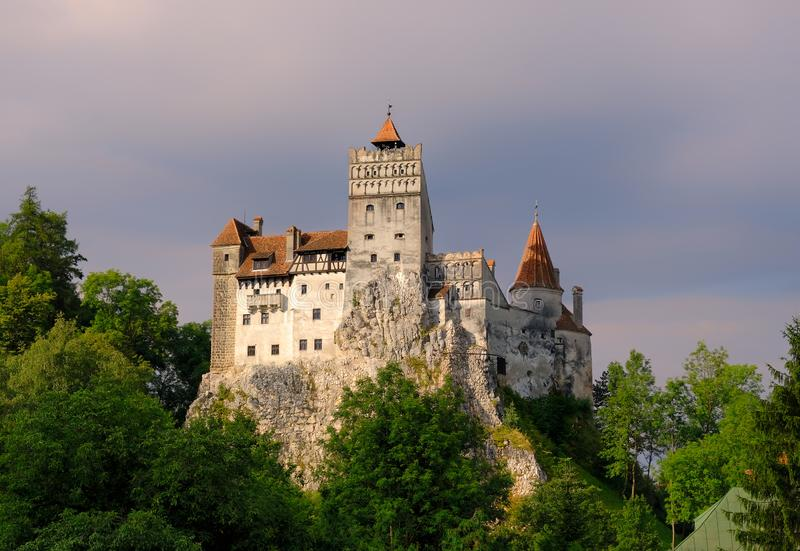 The medieval Castle of Bran royalty free stock images
