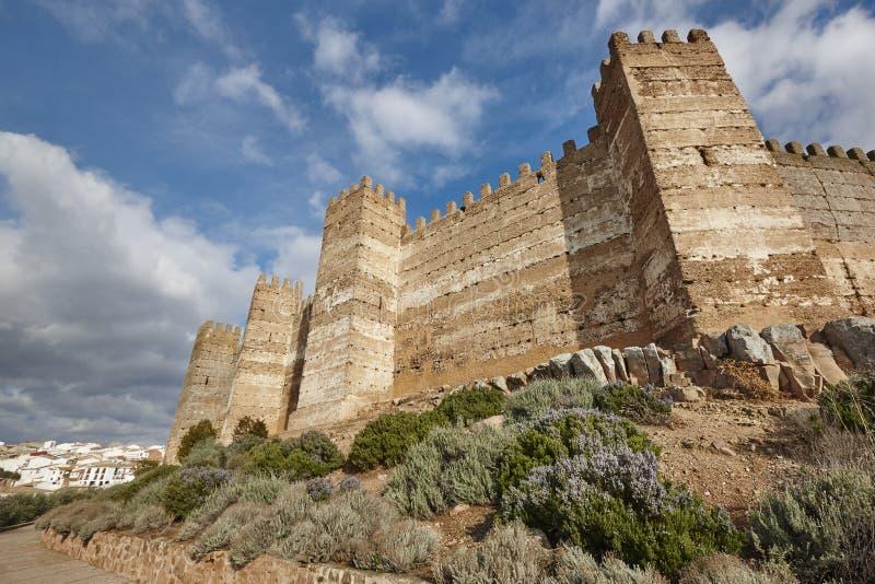 Medieval castle of Burgalimar. Banos de la Encina, Andalucia royalty free stock images