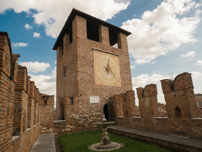 The medieval Castle of Castelvecchio, in the old town of Verona royalty free stock photography