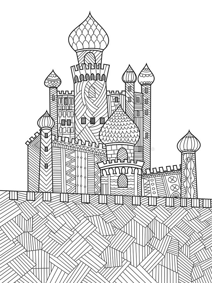 Medieval Castle Coloring Book For