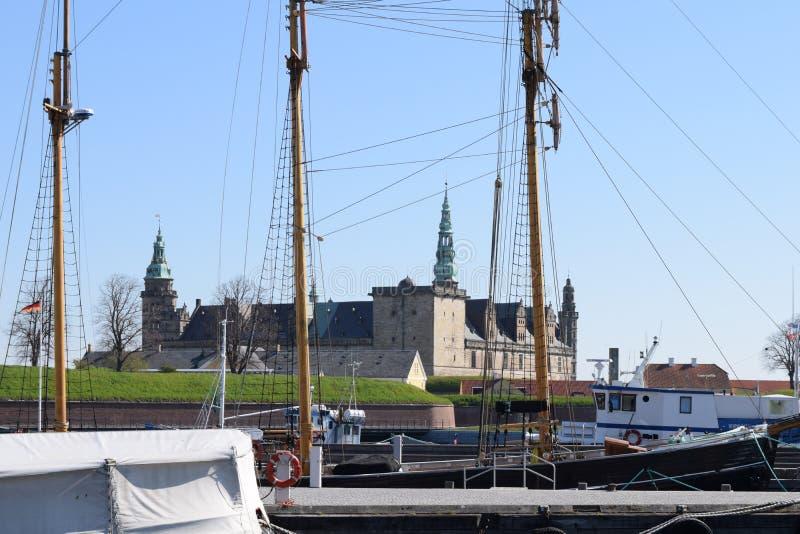 Medieval castle in Denmark stock photo