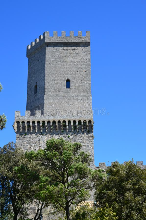 Medieval Castle in Erice, Italy. The Medieval Castle in Erice, Italy royalty free stock images