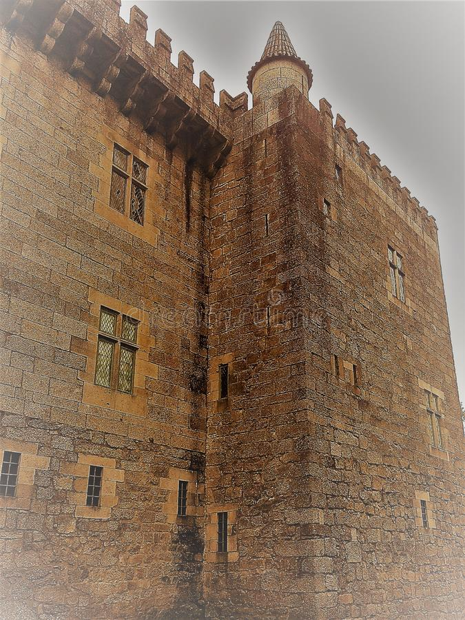 Medieval castle in europe,vintage image. Medieval castle in europe.Image with the vintage perspective, showing all the grandeur and grandeur of this secular royalty free stock photo