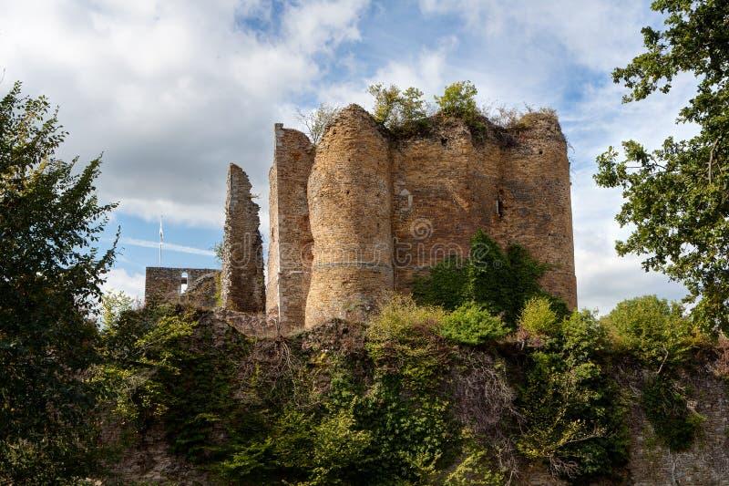 Medieval castle Franchimont, Theux, Liege, Belgium royalty free stock image