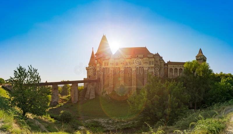 Medieval castle Gothic-Renaissance royalty free stock image