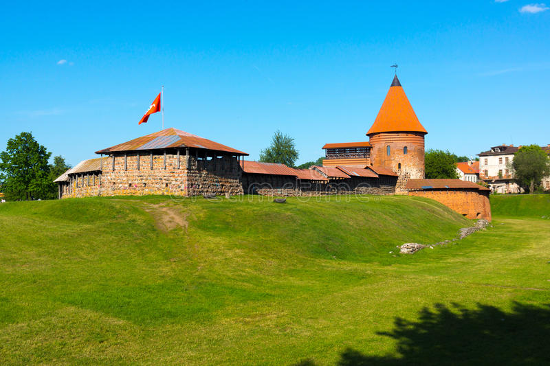 The medieval castle in Kaunas. Lithuania at day time royalty free stock photos