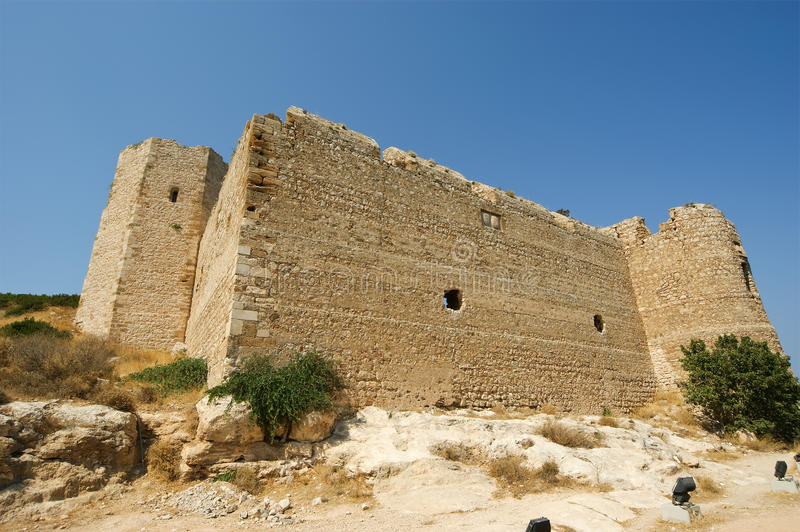 Medieval Castle Of Kritinia In Rhodes Greece Stock Photo