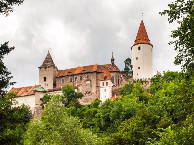 Medieval Castle of Krivoklat in Czech Republic. Krivoklat Castle. Medieval royal castle in Central Bohemia, Czech Republic stock photography