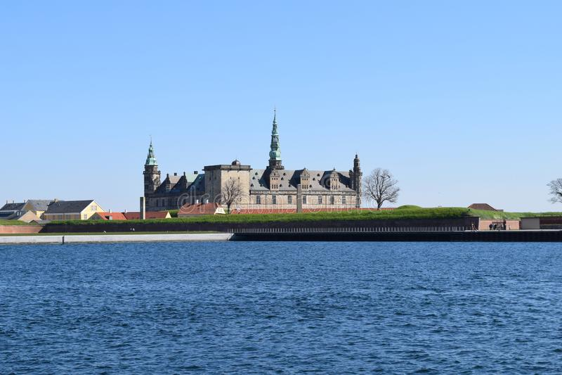 Medieval castle Kronborg Denmark stock photos