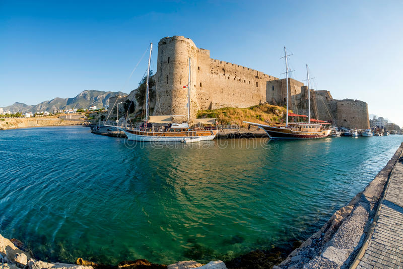 Medieval castle of Kyrenia, Cyprus royalty free stock photography