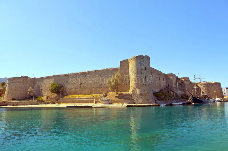 Medieval Castle in Kyrenia, Cyprus. royalty free stock photography