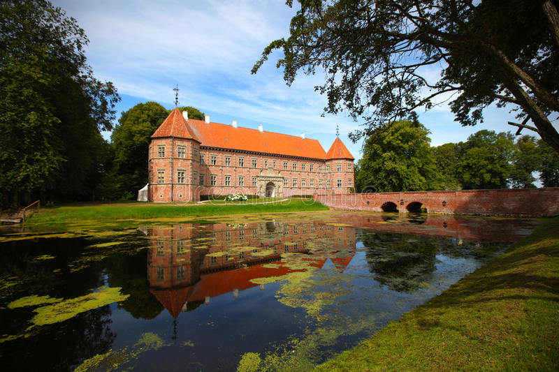 Medieval Castle With Lake In Denmark Stock Photography