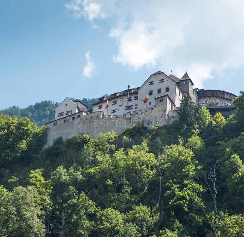 Medieval castle in Liechtenstein stock photo