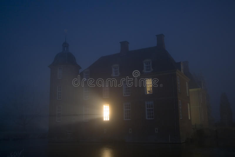Medieval Castle By Night stock image