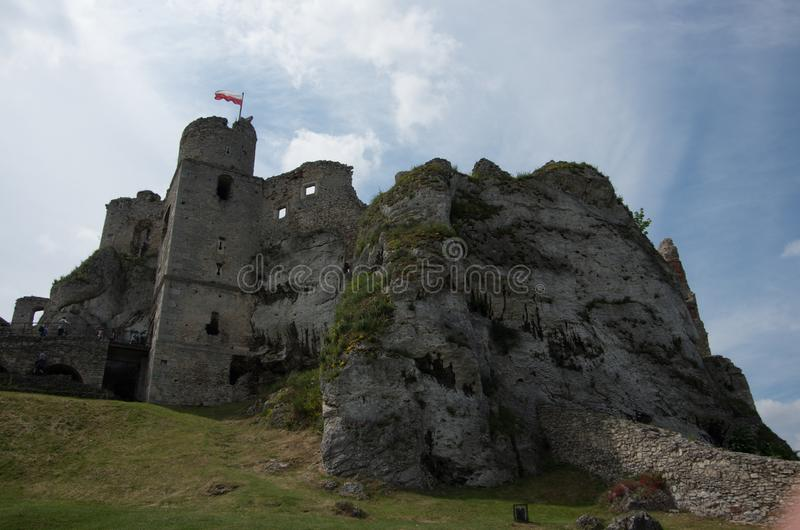 The medieval castle in Ogrodzieniec in Poland royalty free stock images