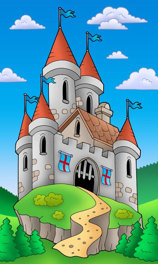 Free Medieval Castle On Hill Royalty Free Stock Photo - 13789405