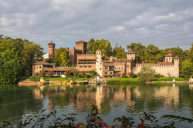 The Medieval Castle On The Po River Turin Stock Photo Image Of - Po river
