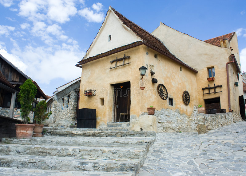 Medieval castle in Romania stock image