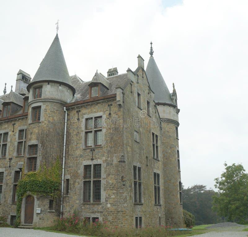 Medieval castle. On September 26, 2015 near Stoumont, Belgium royalty free stock images