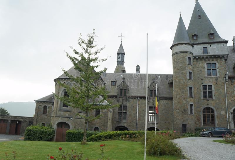 Medieval castle. On September 26, 2015 near Stoumont, Belgium stock photography