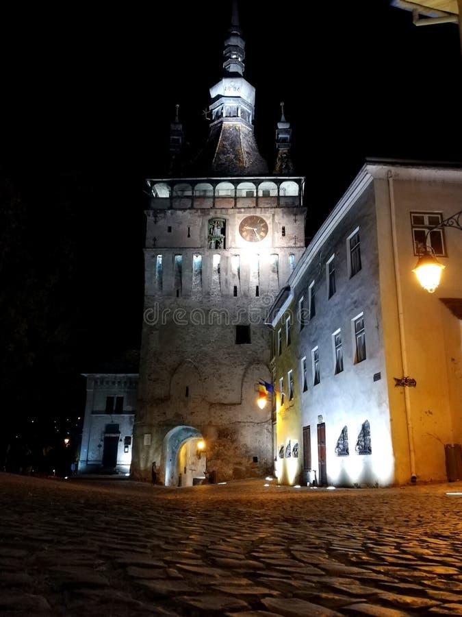 Medieval castle in Sighisoara, Romania royalty free stock photos