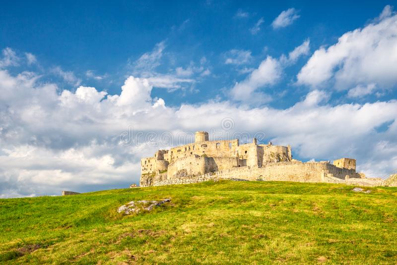 The medieval castle Spis, Slovakia. royalty free stock photos