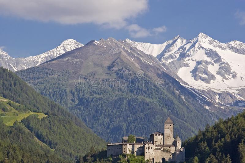 Castle Taufers in the Ahrntal valley stock photo
