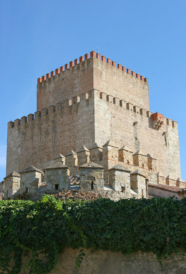 Medieval castle tower stock photos