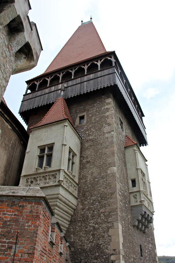 Medieval castle towers royalty free stock photography