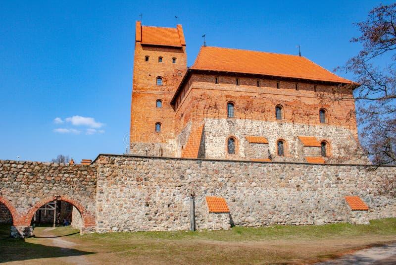Medieval castle of Trakai stock photo