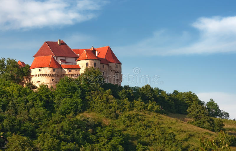 A medieval castle - Veliki Tabor - Croatian castle stock photos