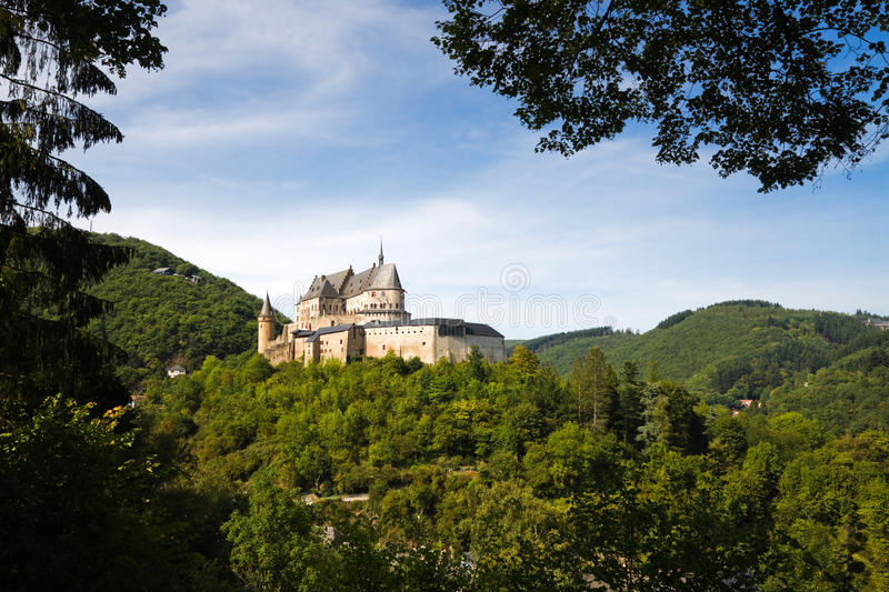 Medieval Castle of Vianden, Luxembourg stock photo