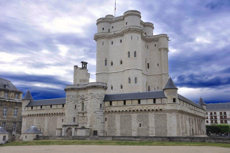 Medieval castle Vincennes stock photo