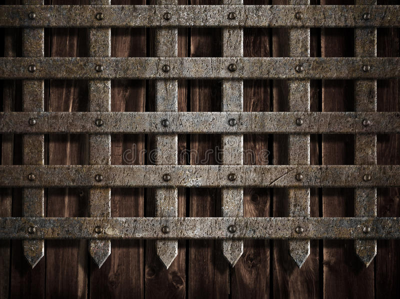 Download Medieval Castle Wall Or Metal Gate Stock Image - Image of blank, gate: 27550131