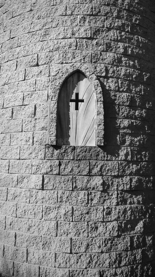 Medieval castle window stock image