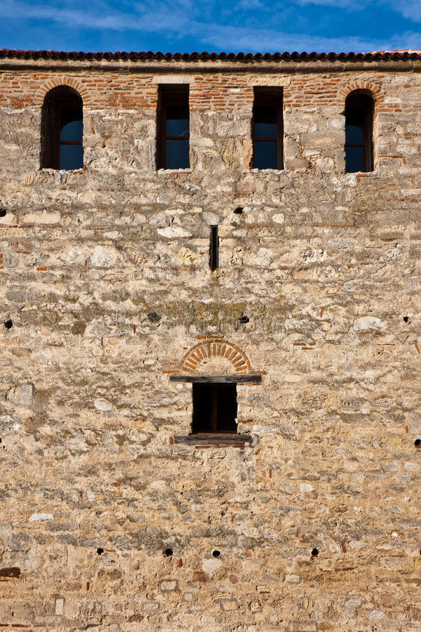 Medieval Castle Windows Stock Image
