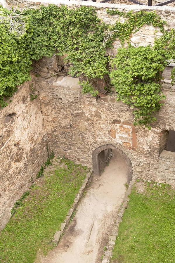 Medieval castle yard royalty free stock photography