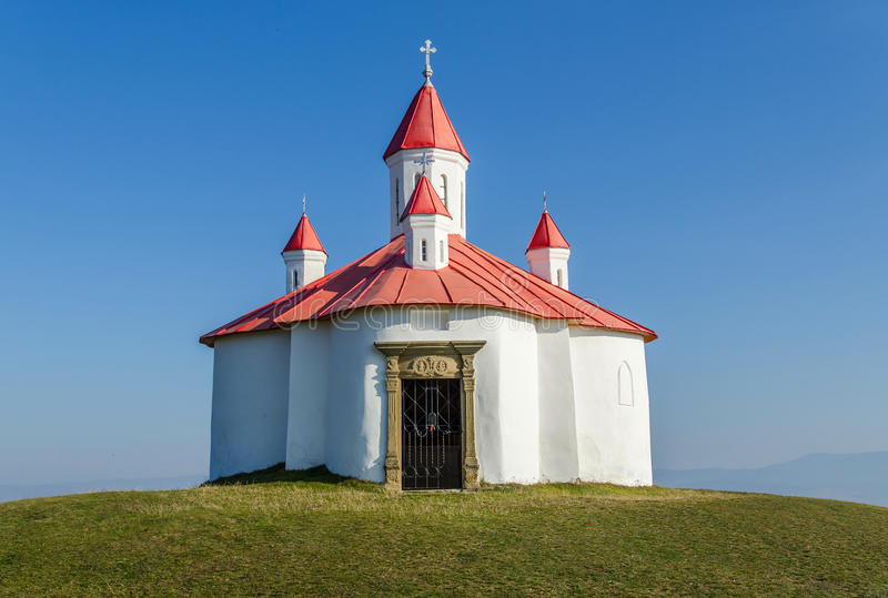 Medieval Catholic chapel in Transylvania royalty free stock photography