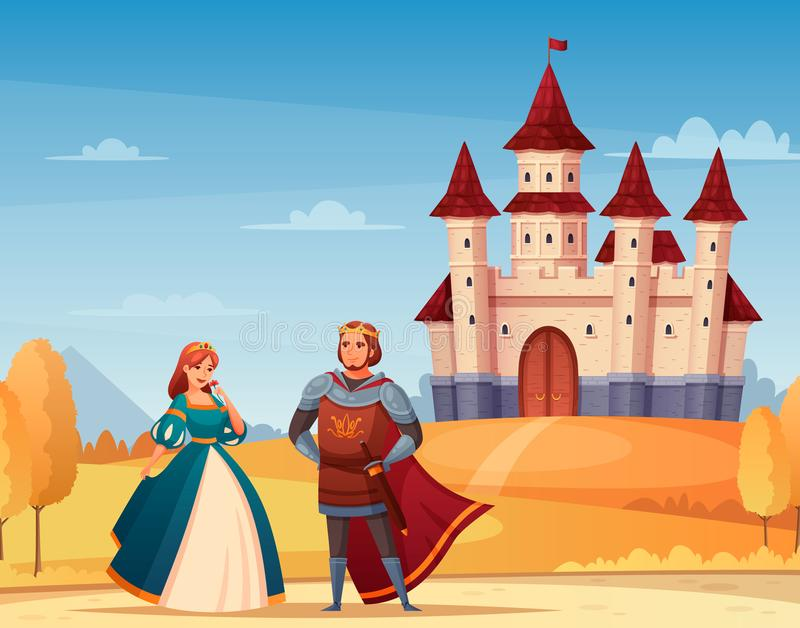 Medieval Characters Background vector illustration