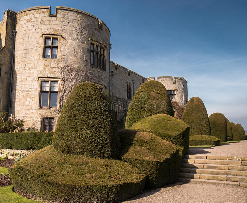Medieval Chirk Castle in Wales stock photos