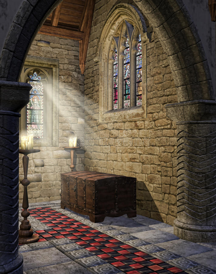 Download Medieval church aisle stock illustration. Illustration of medieval - 35637997